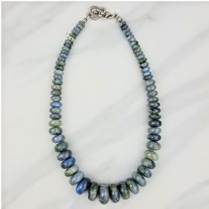 Protection • Labradorite Large Bead Necklace Gray